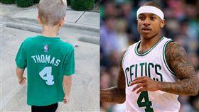 NBA/舊球衣仍在穿!矮湯暖回男童 NBA,波士頓塞爾提克,Isaiah Thomas,華盛頓巫師 翻攝自推特