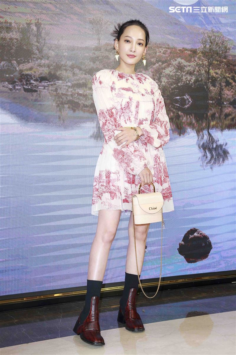 Chloé 2019微風南山全新概念店林映唯出席開幕。(圖/記者林士傑攝影)
