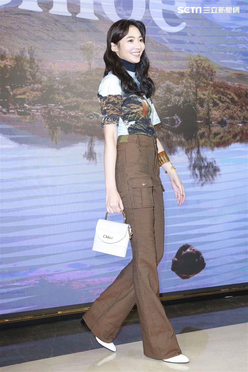 Chloé 2019微風南山全新概念店謝沛恩出席開幕。(圖/記者林士傑攝影)