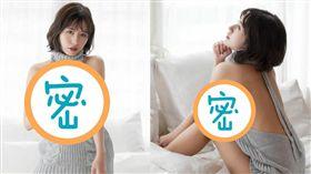 咖滋咪穿著「童貞殺」毛衣讓粉絲們鼻血直流。(圖/翻攝自kazuminoomi IG)