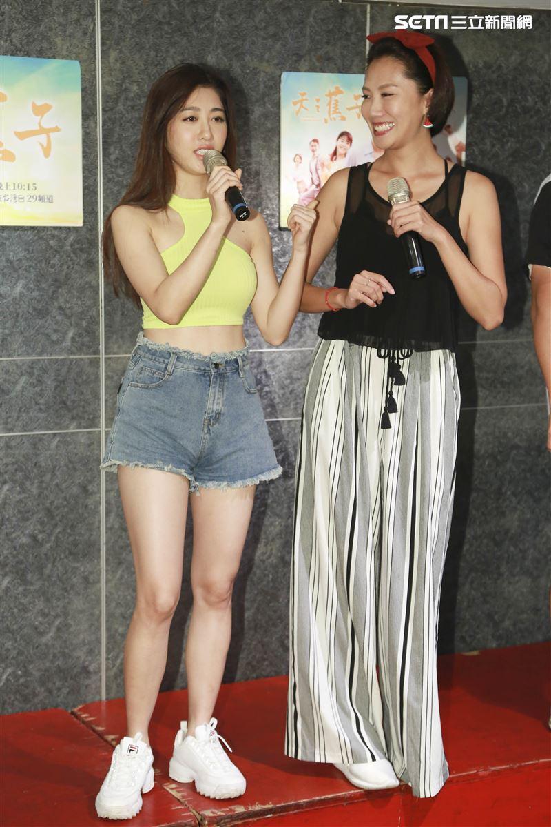 台灣好戲《天之蕉子》殺青酒,王晴、大牙。(圖/記者林士傑攝影)