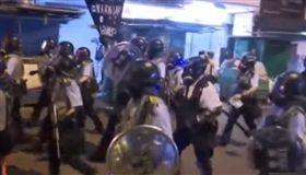 反送中,示威,港警,集結,深水涉,天水圍 圖/AP授權