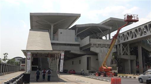 雅加達,輕軌,台灣,設計機廠,曝光(圖/中央社)