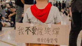 香港,反送中,港警,催淚彈,我自己會哭,綠黨,民陣,818遊行 圖/翻攝自推特臉書