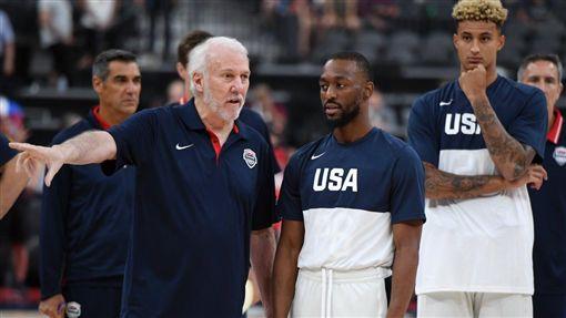 美國男籃一日內連輸陪練隊。(圖/翻攝自推特)