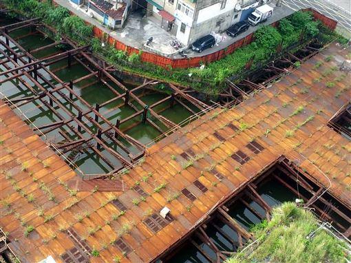 新北市,淡水區,大水池,崩壞危機,安全(圖/工務局提供)中央社