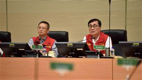 高雄市副市長李四川主持0719豪雨第二次工作會議,高雄市府提供