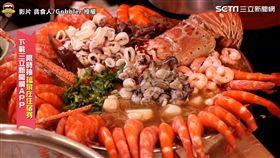 ▲號稱「地表最強痛風」麵線,超狂豪華10種品項,就是要給你吃到滿滿的海鮮!。(圖/貪食人/Gobbler 授權)
