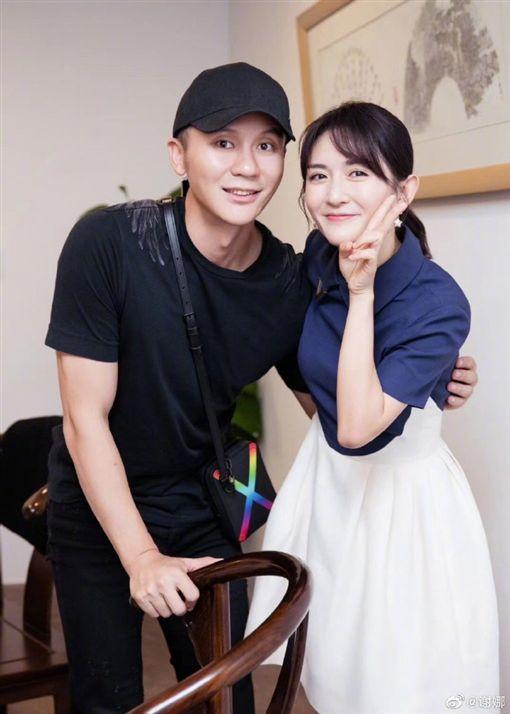 謝娜上傳和李晨合照 圖/微博