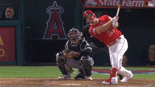 ▲楚奧特(Mike Trout)敲出本季第40轟。(圖/翻攝自MLB官網)