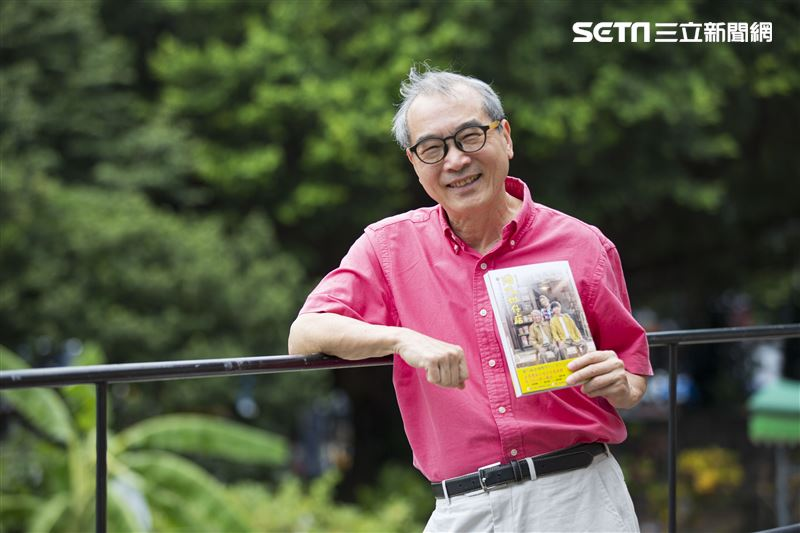 遠流出版社王榮文董事長接受三立新聞網專訪。(圖/記者林士傑攝影)