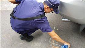▲大安分局今日為第一線派出所員警,進行提升交通事故排除能力訓練。(圖/大安分局提供)