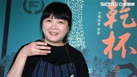 日本電影「乾杯!戀上日本酒的女子」演員千葉麻里絵來台宣傳。(記者邱榮吉/攝影)(喝酒不開車)