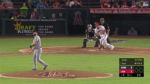 ▲楚奧特(Mike Trout)敲出本季第41轟。(圖/翻攝自MLB官網)