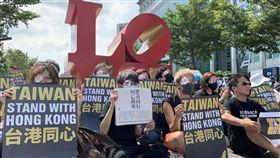 台北,101,香港,反送中,港警,快閃。記者呂品逸攝