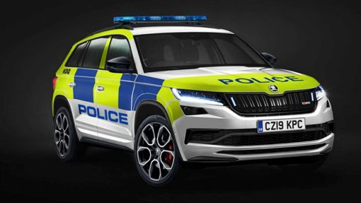▲Skoda Kodiaq RS英國警車(圖/翻攝網路)