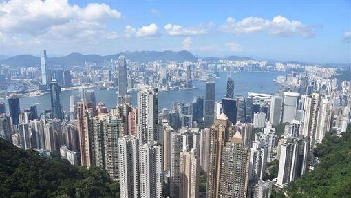 香港鳥瞰。(圖/取自Pixabay)