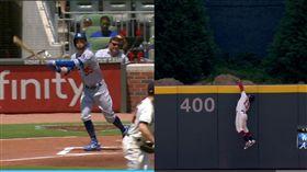 ▲貝林傑(Cody Bellinger)42轟差點被亞古納(Ronald Acuna Jr.)美技守備沒收。(圖/翻攝自MLB官網)