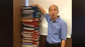 韓國瑜臉書直播公文數量。(圖/翻攝自韓國瑜臉書)