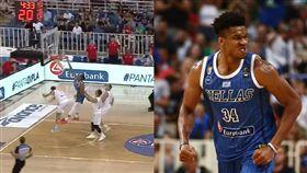 NBA/兇!字母哥快攻歐洲步暴扣 NBA,密爾瓦基公鹿,Giannis Antetokounmpo,希臘國家隊,FIBA 翻攝自推特