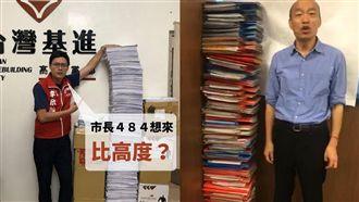 立志做認真市長!罷韓連署書堆比人高
