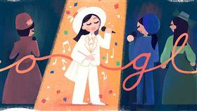Google首頁紀念鳳飛飛為了紀念台灣一代歌后鳳飛飛66歲冥誕,Google特別以「帽子歌后」的特色為概念,設計出專屬的Google Doodle主題。(Google提供)中央社記者吳家豪傳真 108年8月20日