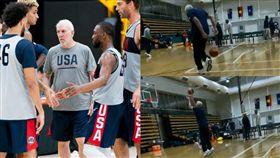 籃球/球員頻退美國隊 波總下海練球 FIBA世界盃,美國男籃,夢幻隊,Gregg Popovich 翻攝自推特