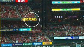 ▲Paul DeJong的全壘打球停在這裡。(圖/取自美國職棒)