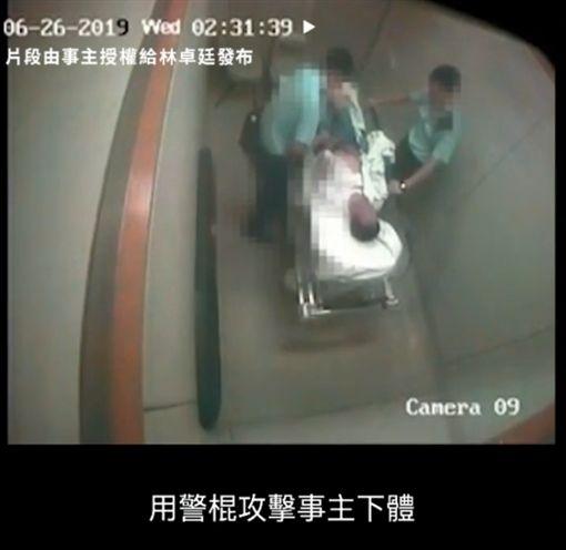 港警,施虐,私刑,醫院,香港/翻攝林卓廷臉書