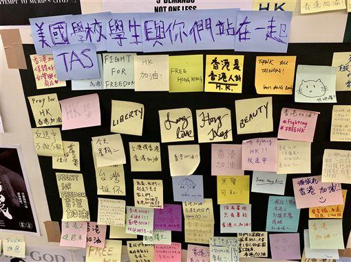 台大連儂牆,香港,反送中(記者郭奕均攝影)