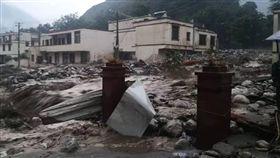 (圖/翻攝自微博)中國,四川,汶川,土石流,山崩