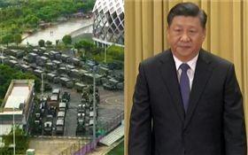 北京政壇黑幕?有人要「香港越亂越好」 逼習近平出兵鎮壓(合成圖/AP授權、資料照)