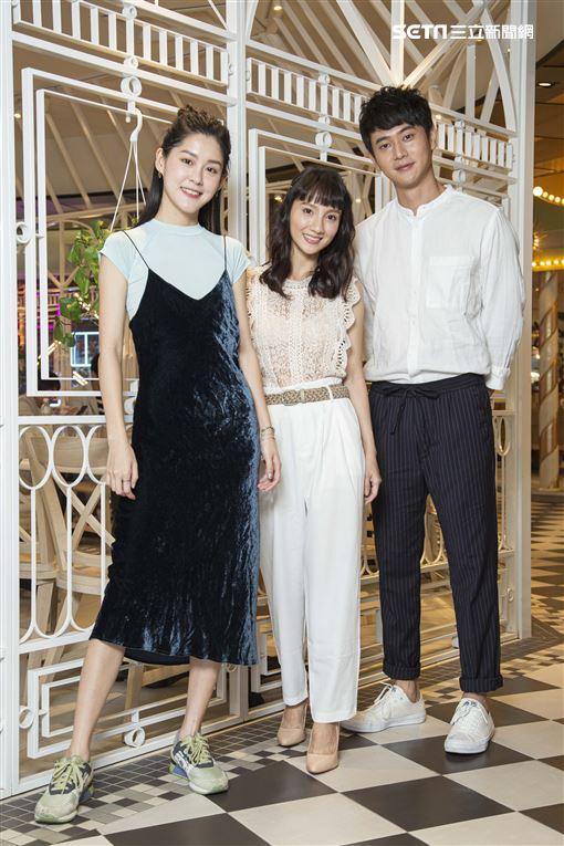 《致親愛的孤獨者》主演劉冠廷、張寗、李聿安接受三立新聞網專訪。(圖/記者林士傑攝影)
