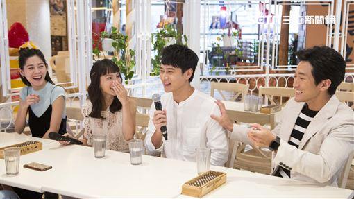 《致親愛的孤獨者》主演劉冠廷、張寗、李聿安、鍾政均接受三立新聞網專訪。(圖/記者林士傑攝影)