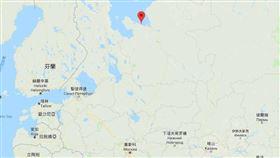 俄國,飛彈測試,爆炸,謎團,蒲亭(圖/取自Google地圖google.com.tw/maps)