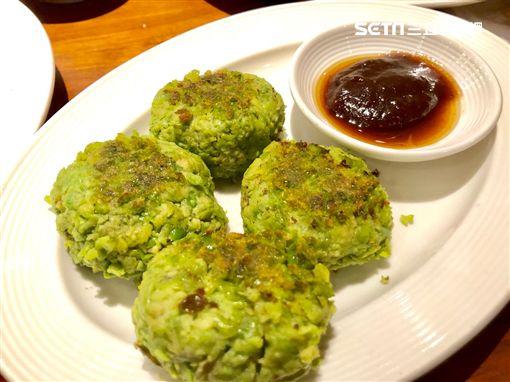 君悅凱菲屋蔬食料理。(圖/記者蔡佩蓉攝影)