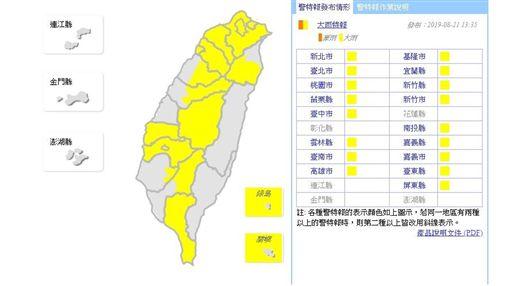 20190821大雨特報(圖/氣象局)