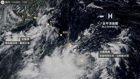 白鹿路徑預估(圖/翻攝自台灣颱風論壇|天氣特急)