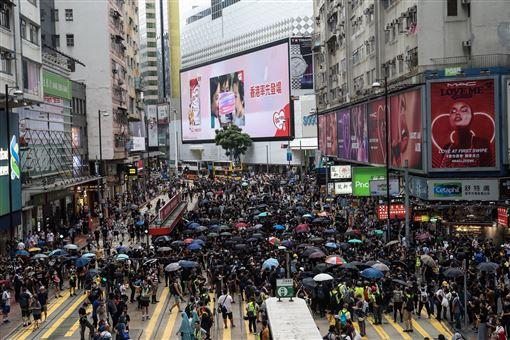 香港,反送中,治港,3個不要,影武者,亂港(圖/中央社)