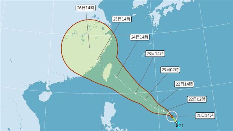 白鹿颱風週六襲台!氣象局估「花蓮登陸」 週五將發海警