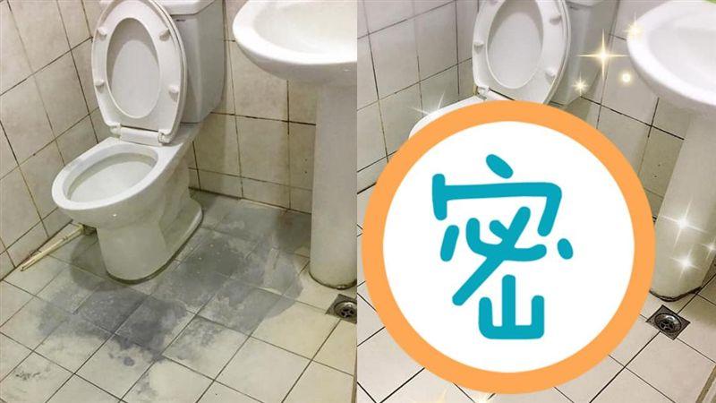 30年髒浴室!神隊友Man力刷洗煥然一新 網跪:太強啦