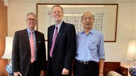 美國在台協會(AIT)處長酈英傑與高雄市長韓國瑜會面(圖/翻攝自AIT臉書)