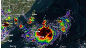 白鹿颱風路徑圖 圖翻攝自accuweather