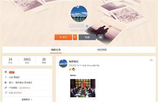 中美貿易戰,香港,反送中,神秘帳號,自媒體(圖/微博網頁weibo.com/tw)