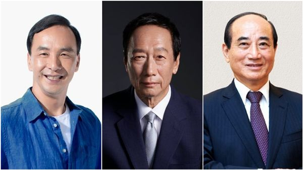 朱立倫(左起)、郭台銘、王金平(合成圖/翻攝自朱郭王臉書)
