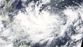 颱風「白鹿」(Bailu),暴風圈,衛星雲圖(圖/翻攝自NASA推特)