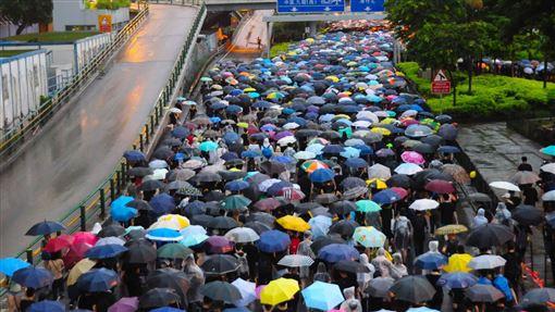 香港,反送中,抗議群眾,中國.暴徒,軟實力,失敗(圖/資料照片)中央社