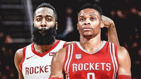 NBA/火箭擁雙MVP!哈登發豪語 NBA,休士頓火箭,James Harden,Russell Westbrook 翻攝自推特