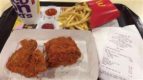 麥當勞,炸雞,爆菊,3倍辣炸雞,嘗鮮(翻攝自台灣廉價航空福利社臉書)