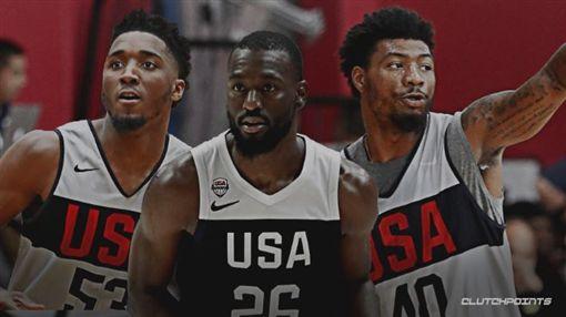 籃球/美國隊長出爐!塞隊爽包辦2人籃球,FIBA世界盃,美國男籃,夢幻隊,美國隊長,Kemba Walker,Marcus Smart,Donovan Mitchell翻攝自推特ClutchPoints
